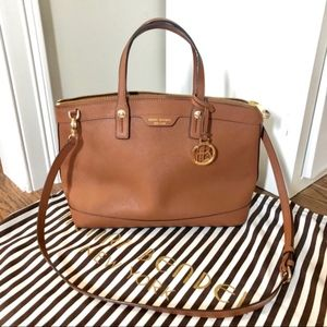 Henri Bendel West 57th Brown Satchel Bag